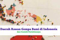 Daerah Rawan Gempa Bumi di Indonesia